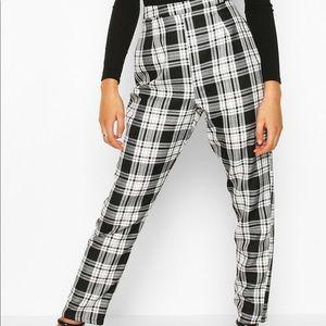 Mono Check Slim Fit Woven Trouser